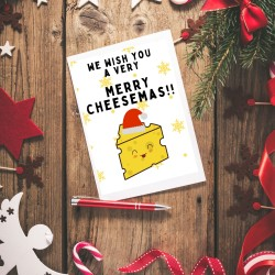Merry Cheesemas - Cheese Themed Christmas Card